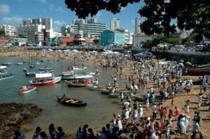 Festival of Yemanjá as celebrated each February in Bahia, Brazil. Photo by Gerald Hoffman